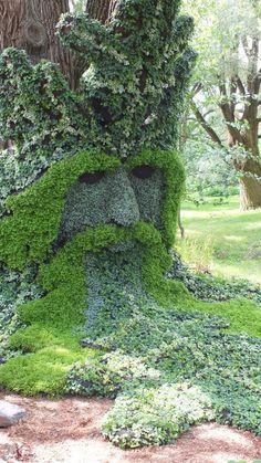 Spirits of the Wood - The Green Man (closeup) - Mosaiculture - Montreal Botanical Gardens