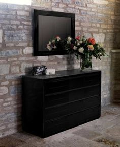 adria casabella high gloss extra wide black or white chest of drawers see more at black or white furniture