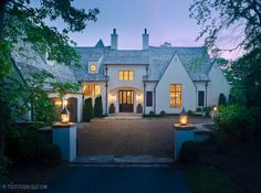 French Eclectic Residence Contemporary French Country Eclectic Architectural Detail Entryway Front Facade by Christopher Architecture and Interiors Architecture Details, Interior Architecture, French Architecture, Villas, Traditional Exterior, White Houses, House Goals, Residential Architecture, Curb Appeal