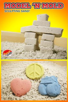 Kids can build sand castles, sculptures, & more with colored play sand that sculpts, molds in sandboxes, sand tables from Sandtastik! Safe colored play sand for kids that sculpts on its own!