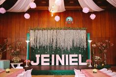 Jeiniel's Enchanted Garden Themed Party: Stage