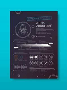 Résumé by Atina Abdullah, via Behance