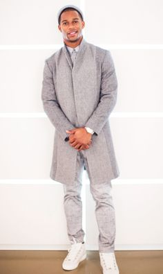 Victor Cruz gives Milan Fashion Week a lesson in sporty, comfy, and unquestionably sophisticated style