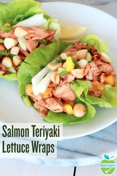 For a healthier take on teriyaki, you MUST try this Salmon Teriyaki Lettuce Wrap recipe! Made with wild salmon, jicama, onions and dry roasted macadamia nuts, this quick and easy dish is bursting with crunch and flavor. Prep these delicious wraps in 10 minutes for lunch or dinner and enjoy!