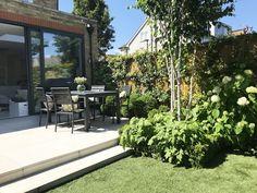 See this example of a recent garden design in Barnes, West London, from Harrington Porter, garden designers and landscapes in Garden Design London, Back Garden Design, Narrow Garden, Creative Landscape, West London, Garden Spaces, Back Gardens, Patio, Outdoor Decor