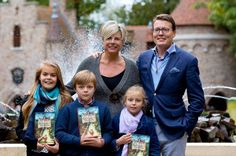 HH Princess Laurentien of the Netherlands accompanied by her husband Prince Constantijn and childresn Countess Eloise, Count Casimir and Coutness Leonore, launch her new children's book 10/5/2014