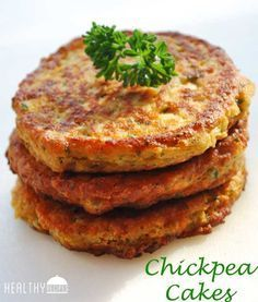 Chickpea Cakes - have to make a few substitutions to make gluten and dairy free, but totally doable (Things To Try Healthy Recipes) Chickpea Cakes, Chickpea Fritters, Chickpea Patties, Chickpea Burger, Veggie Fritters, Healthy Food Blogs, Healthy Snacks, Healthy Recipes, Easy Recipes