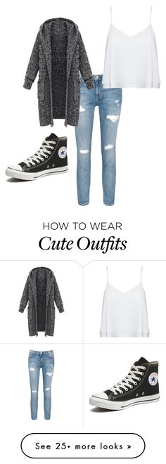 """Cute winter outfit"" by kiera-l-mccoy on Polyvore featuring Current/Elliott, Alice + Olivia and Converse"