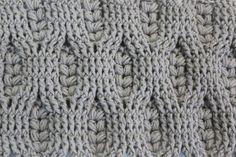 Punto Espiga de Trigo crochet - Vídeo Tutorial & Chart <3