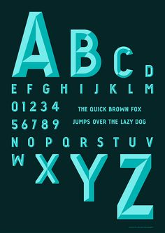 I like the bold and visible type. The shadows allow for a three dimensional look.