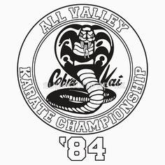 'Cobra Kai All Valley Karate Tournament' T-Shirt by superiorgraphix Karate Kid Movie, Karate Kid Cobra Kai, Cobra Kai Shirt, Cobra Kai Dojo, Miyagi, Character Drawing, Transparent Stickers, Rash Guard, Martial