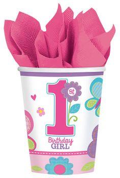 Bicchieri Primo Compleanno Girl - Kit Festa
