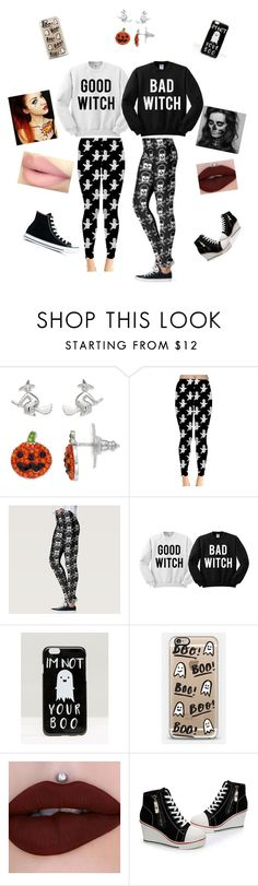 """Halloween with the Bestie"" by rinnalin ❤ liked on Polyvore featuring ASOS, Casetify and Converse"