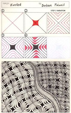 Zentangle Pattern Zonked by Barbara Finwell