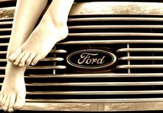 Ford. Only pinning this because none of the guys have a Pinterest so they can't tease me for it, and because this would make such an awesome picture to hang in the office! Both of our toes painted and hanging down the front of the PW. Or the kids feet down the front would be super cute too!