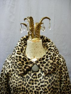 50's 60's leopard print coat Sidney Blumenthal Faux by LorrelMae @Etsy