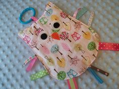 Owls and Trees CRINKLE CRACKLE Sensory Taggie Owl Toy