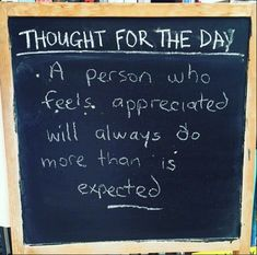 Have a fantastic day. Thought For The Day...........'A person who feels appriciated will always do more than is expected!' http://earn-bitcoin-today.365.pm/ #bitcoin, #extraincome