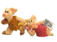 Piggin / Pig Collectors Figurine - Club Crazy # 14331 Dancing / Cave Pig | eBay