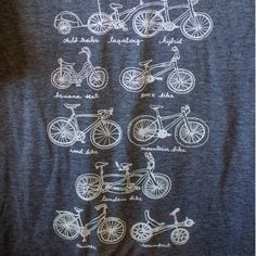 Cycles of Life illustrated bike tshirt MENs by kiteflyingsociety, $24.00