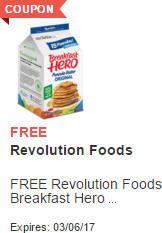 FREE Revolution Foods Breakfast Hero at Acme on http://www.icravefreebies.com/