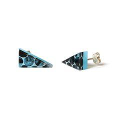 Raelene Olson Blue studs | earrings | 2016 | movie film, acrylic, silver | 20x10x17mm