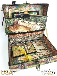 Safari Tag Álbum de viajes con la caja de almacenamiento, Safari Aventura…