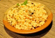 Israeli Couscous with Lemon---This was delicious when I doubled the recipe but only used the juice of one lemon.