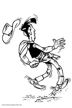 Lucky Luke Western Clip Art, Lucky Luke, Coloring Pages To Print, Cartoon Characters, Fictional Characters, Animated Cartoons, Westerns, Comic Books, Animation