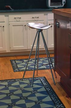 How to make painted canvas floorcloths