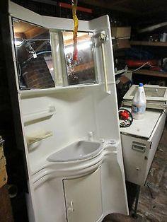 Caravan bathroom wall fitting unit with taps sink mirror cupboard etc (CAV008) in Vehicle Parts & Accessories, Motorhome Parts & Accessories, Caravan Parts | eBay