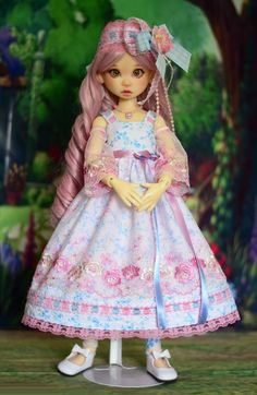 """""""Heavenly Prairie"""" Dress Outfit Clothes for 18"""" MSD Kaye Wiggs BJD Liz Frost #LuminariaDesigns"""