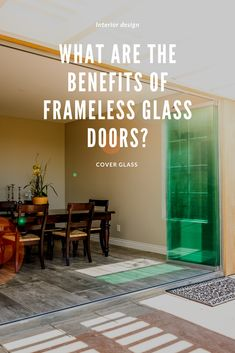 If you're in the process of remodeling your home, you may be wondering if you should upgrade your doors. Frameless sliding glass doors have a variety of benefits for your home, but here are 5 reasons why you might consider installing them in your home. Sliding Glass Door, Glass Doors, Sliding Doors, Curved Walls, Patio Doors, Open Up, Windows And Doors, Nevada, Luxury Homes