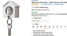 Amazon.com: Birdhouse Key Ring - Brown House with Yellow Bird by Luckie Street: Office Products