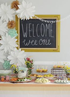 Gender Neutral Baby Shower -- Love those colors