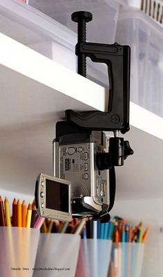 Great way to set up your camera for DIY craft videos.