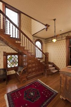 victorian staircase | Victorian Homes | Pinterest