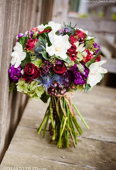 Love multicolor and texture bouquets