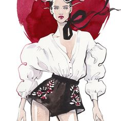 Alina grinpauka fashion illustration for sky more