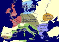 Map showing Neolithic cultures in the 5th millennium BCE in Europe @Wikipedia