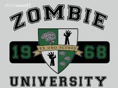 Zombie U Tee by Shirt.Woot.com