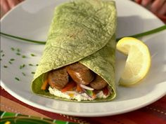 Turkey Sausage-n-Veggie Wrap | #turkey #sausage #veggie #wrap | http://www.jennieo.com/recipes/403-Turkey-Sausage-n-Veggie-Wrap