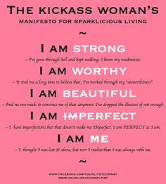 positive woman's quote