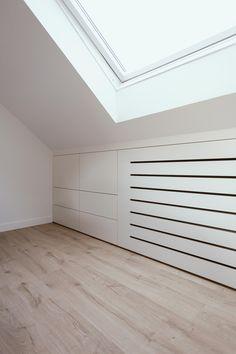 Hallway Storage, Attic Storage, Wall Cupboards, Dressing Room Design, Comfy Bedroom, Loft Room, Attic Bathroom, Attic Spaces, Home And Living
