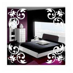 Štvorcové dekoračné zrkadlo s ornamentom Bed, Furniture, Design, Home Decor, Decoration Home, Stream Bed, Room Decor, Home Furnishings