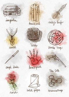"""taeskai: """" ♪ On the twelfth day of Christmas Chuck Shurley gave to me twelve things with meaning! ♫ ~12 Days of Supernatural """""""