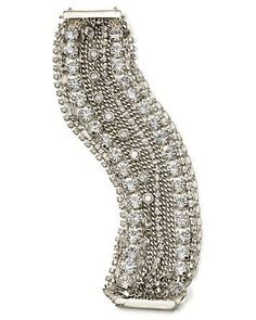 Rhinestones: A bit of an investment, this versatile, wow-worthy bracelet can dress up any outfit.