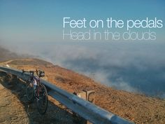 Feet on the pedals. Head in the clouds. #cycling #cyclingstateofmind