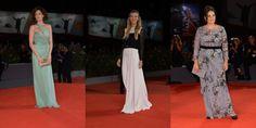 Mostra del cinema di Venezia 2013: Emma Dante, Ksenia Rappoport e Fiammetta Cicogna in Alberta Ferretti