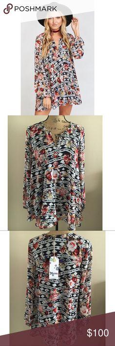 Show Me Your Mumu Jamie Tunic- Rose Ranger NWT & never worn. 100% polyester Show Me Your MuMu Tops Tunics